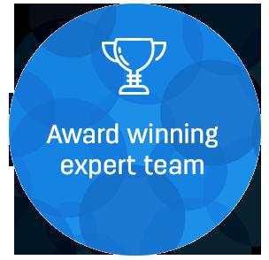 award winning expert team